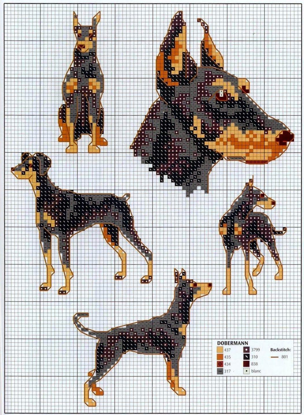 GRAFICOS PUNTO DE CRUZ GRATIS : PERROS (55)   punto cruz perros ...