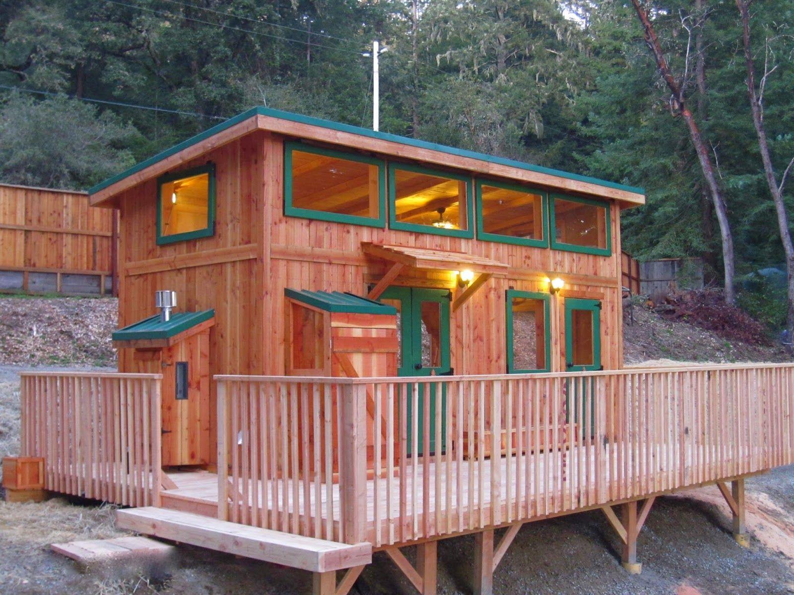 Best New 9X20 Hunter Green Cabin With 10X12 Studio We Build 400 x 300