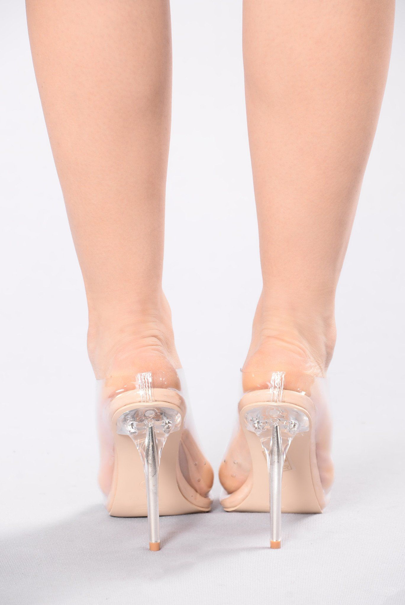 8695d32f3849 Available in Black and Nude And Gold Clear Mule Pointed Toe Lucite Heel PVC  Upper