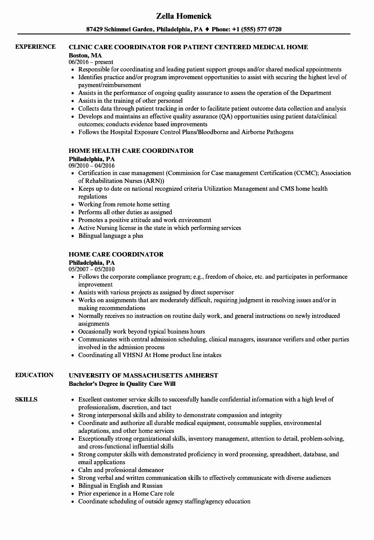 23 Patient Care Coordinator Job Description Resume in 2020