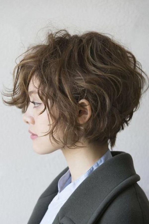 Short Bob Wavy Human Hair Women Wigs 12 Inches