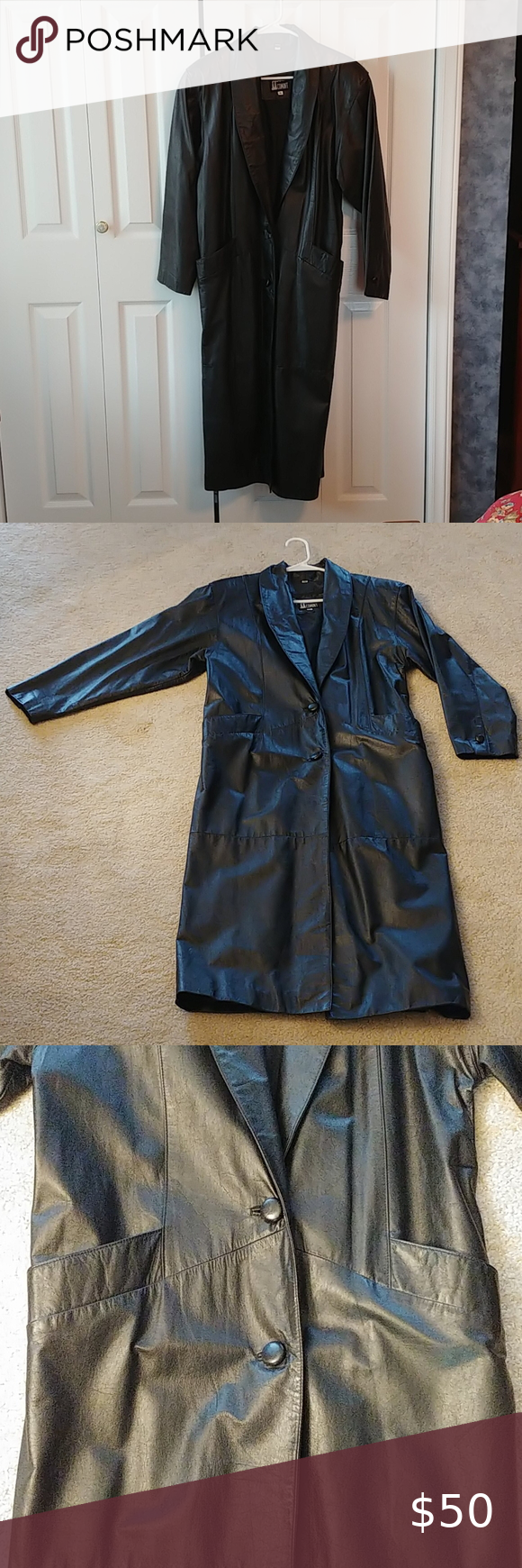 Comint Black Leather Trench Coat Leather Trench Coat Clothes Design Trench Coat [ 1740 x 580 Pixel ]