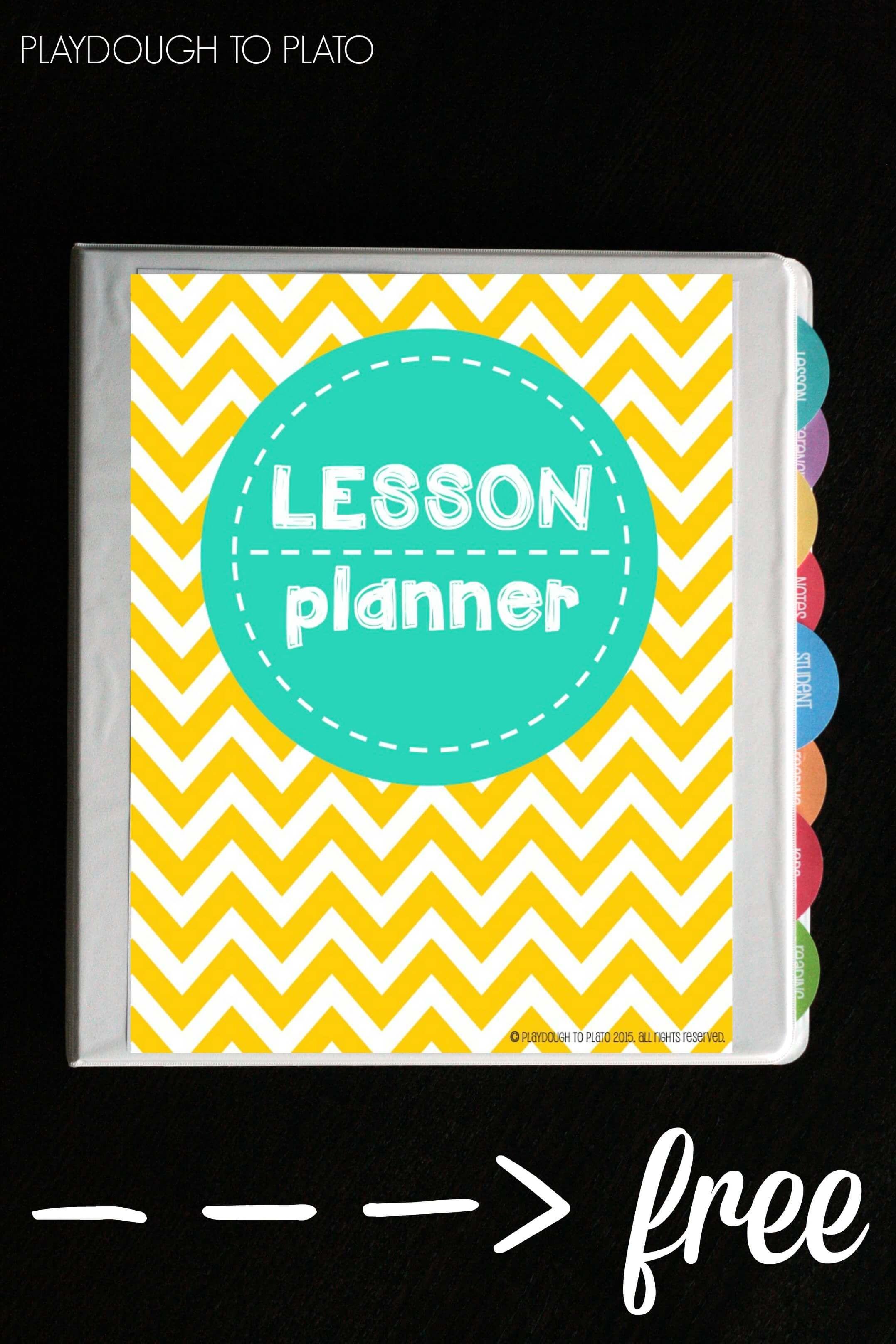 Free Teacher Planner - Playdough To Plato