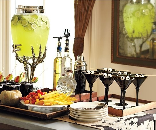 Classy Halloween Decorations where can i get that drink dispenser?! need. | samhain-devilish