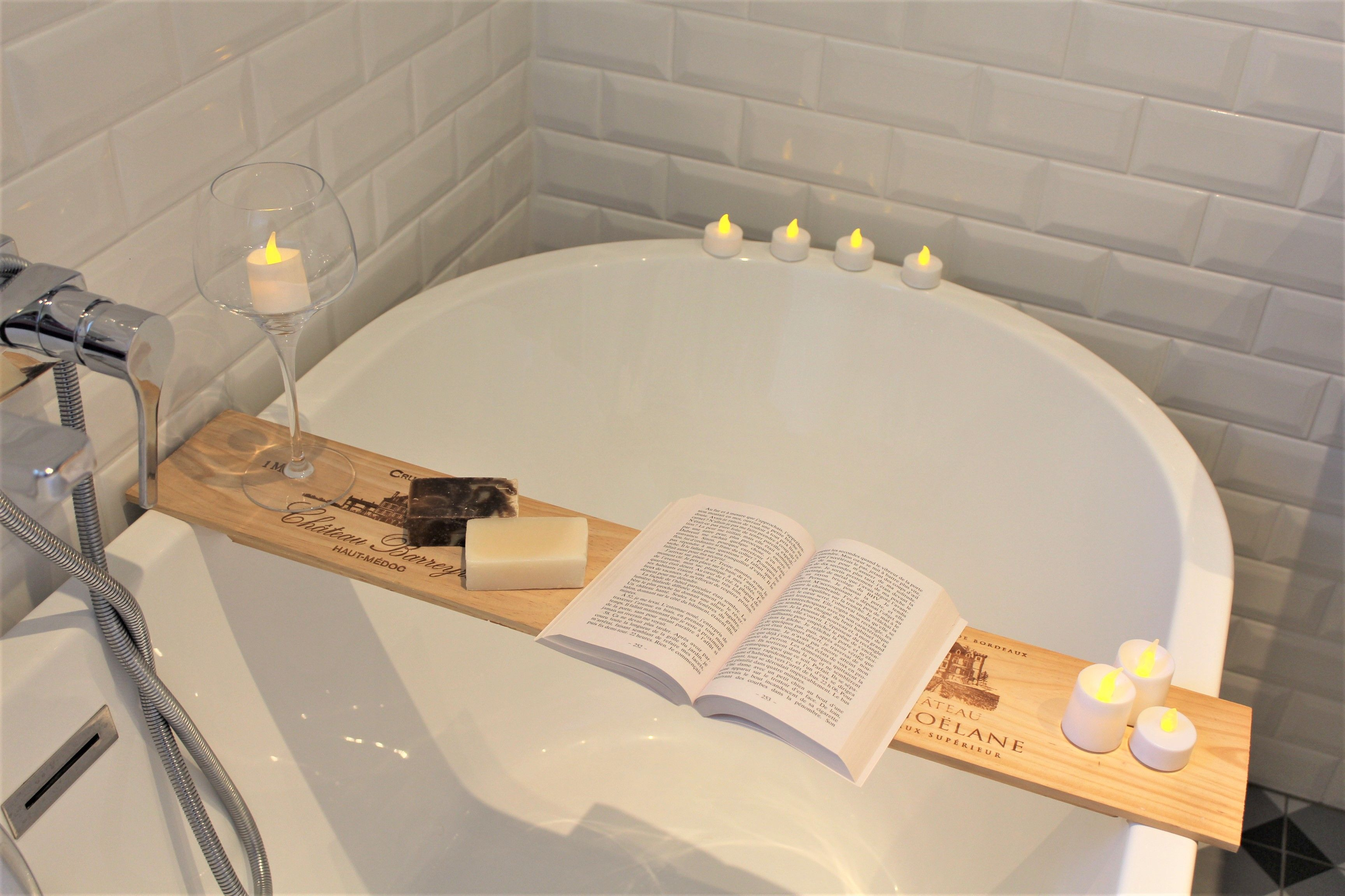 Badkuip Brico Diy Bath Time Baignoire Wine Upcycle Box Wood Easy Decoration