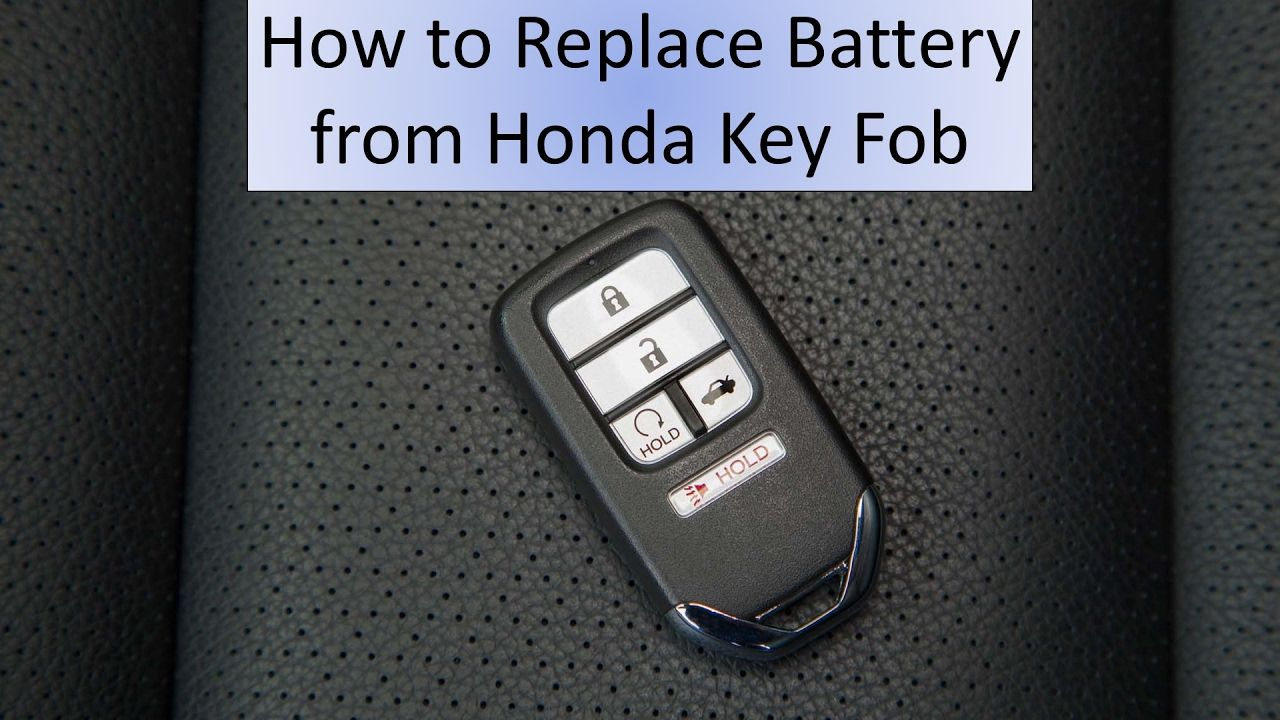 How to Replace your Battery from your Honda Key Fob