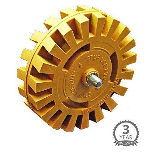 "CTA Tools 1010 3.5"" Eraser Wheel with Arbor Adapter"