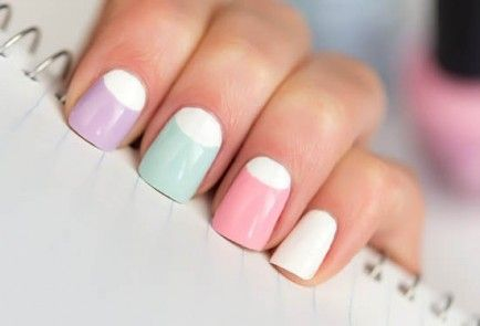 25 Super Pretty Half Moon Manicures to Try