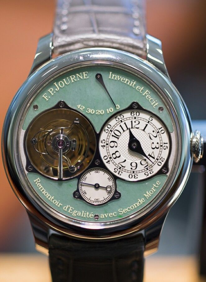 0104ee93ba2 F. P. Journe Tourbillon Souverain with Jade Dial - While not a limited  edition model per se