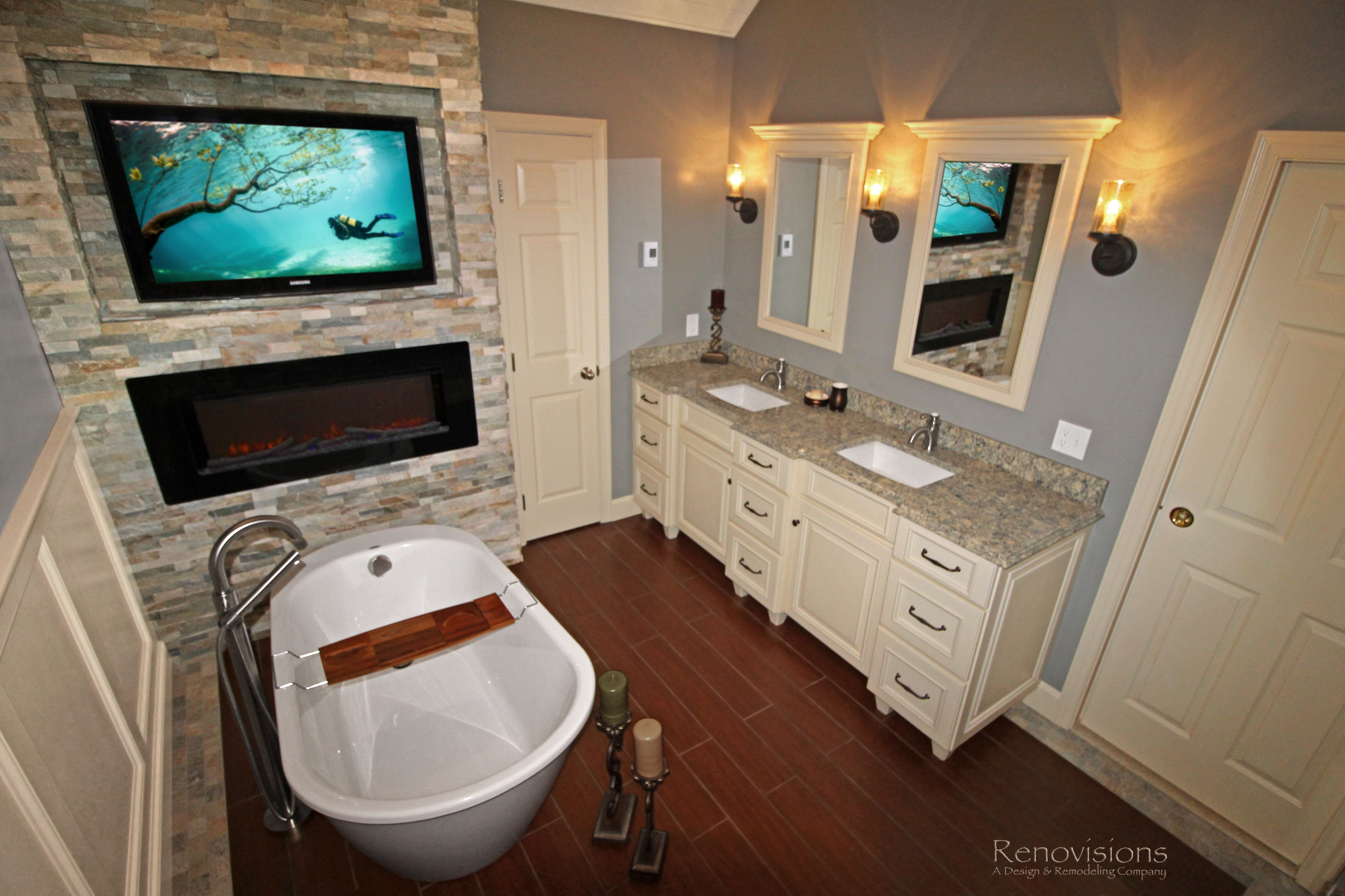 a recently completed master bathroom remodel by renovisions