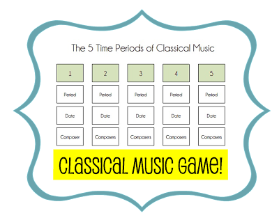 Time Periods Of Classical Music Song And Game Classical Music