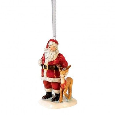 Royal Doulton Santa and Reindeer Figurine Christmas Ornament New. Santa  tree. - Royal Doulton Santa And Reindeer Figurine Christmas Ornament New