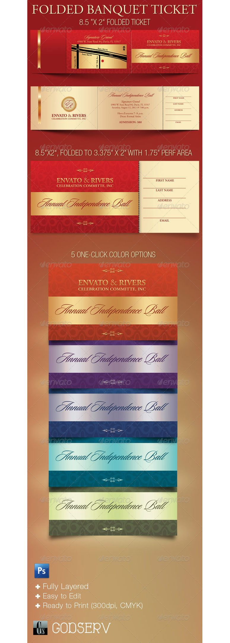 folded banquet ticket folded banquet ticket template psdbucket