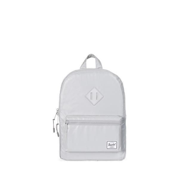 Heritage Backpack Youth - Silver Reflective Rubber Brand  Herschel Supply Co.  Description  Perfectly proportioned for children 7 and up 77cde3c42475f