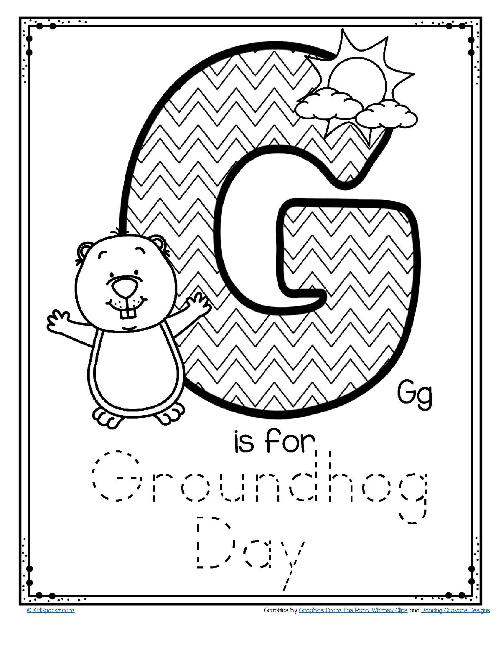 Letter G Is For Groundhog Day Trace And Color Printable Poster Free In 2021 Groundhog Day Activities Groundhog Day Letter G [ 2200 x 1700 Pixel ]