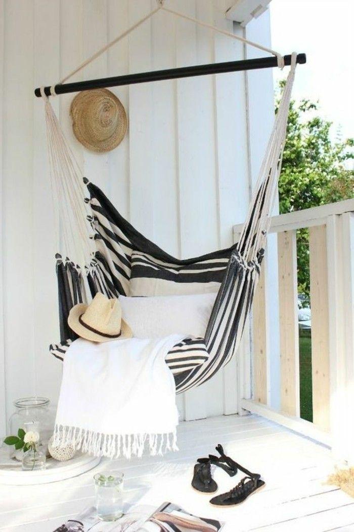 hängematte outdoor ländlich rustikal für veranda balkon - balkonmobel fur kleinen balkon ideen