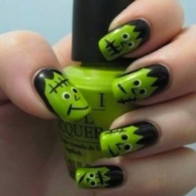 Frankenstein Nails!!
