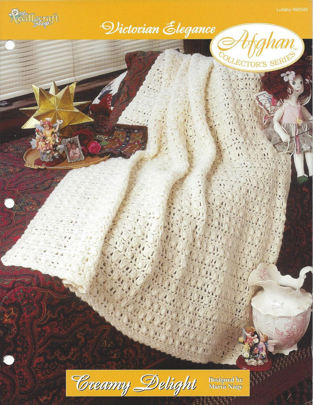 Crochet Victorian Afghan Pattern, Home Decor Heirloom, Bedspread ...