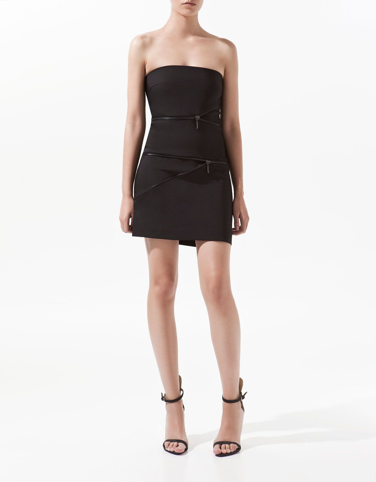 Dress with zips by Zara | Just Fashion |