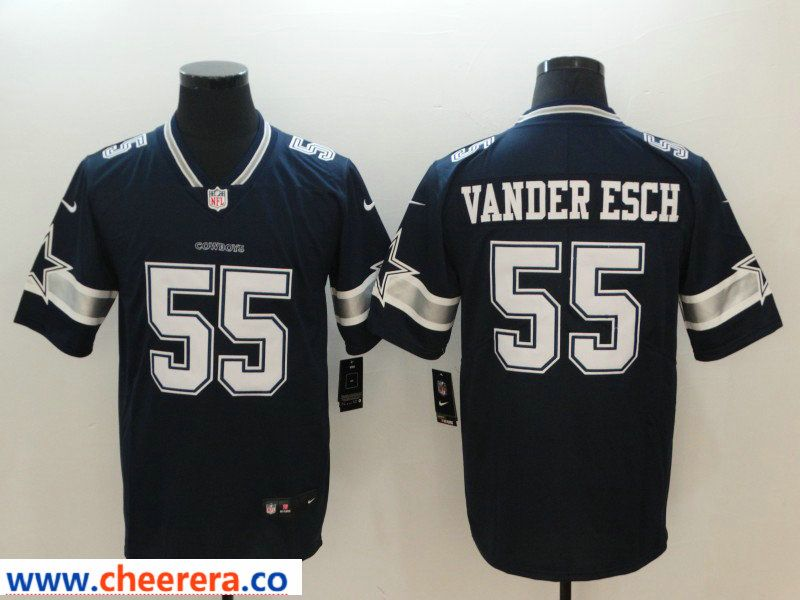 Nike Cowboys 55 Leighton Vander Esch Navy Vapor Untouchable Limited Jersey f78dfb065