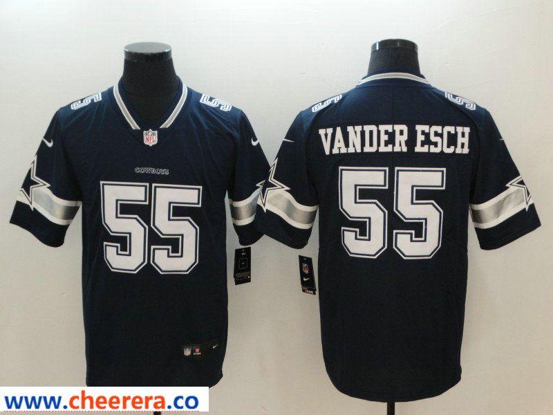 sale retailer 7018e 7c5d7 Nike Cowboys 55 Leighton Vander Esch Navy Vapor Untouchable ...