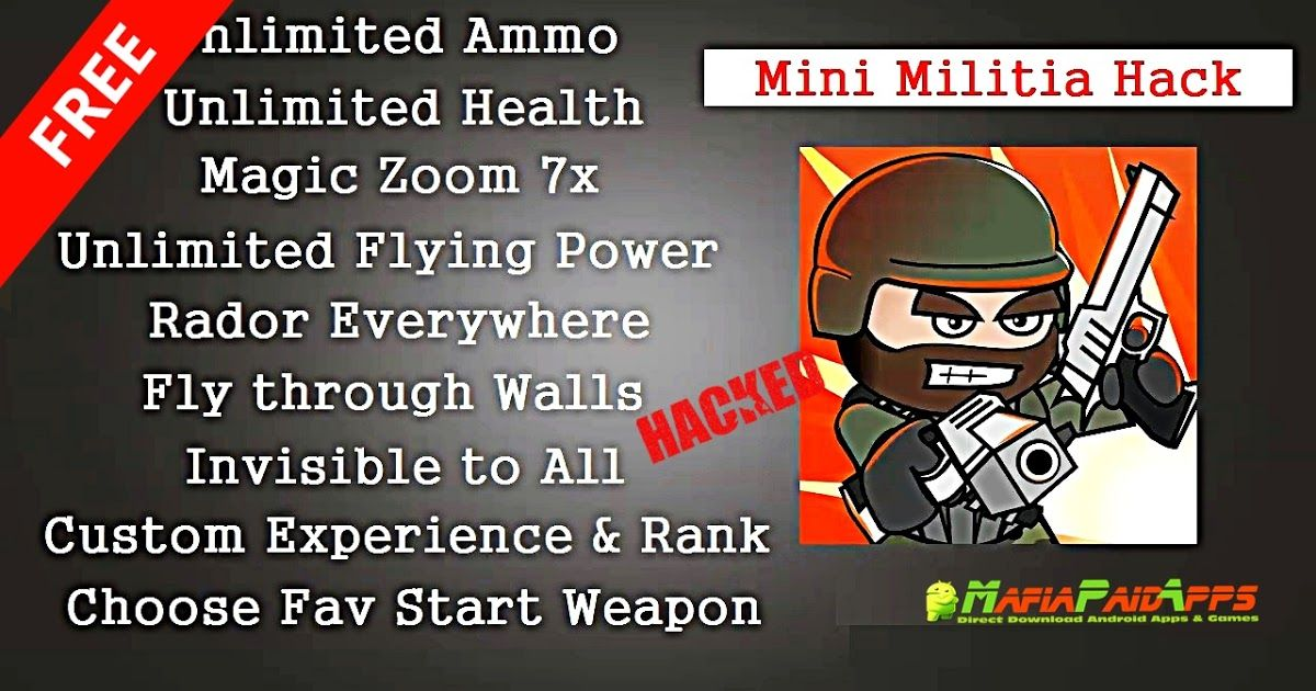 mini militia all in one hack, mini militia everything unlimited