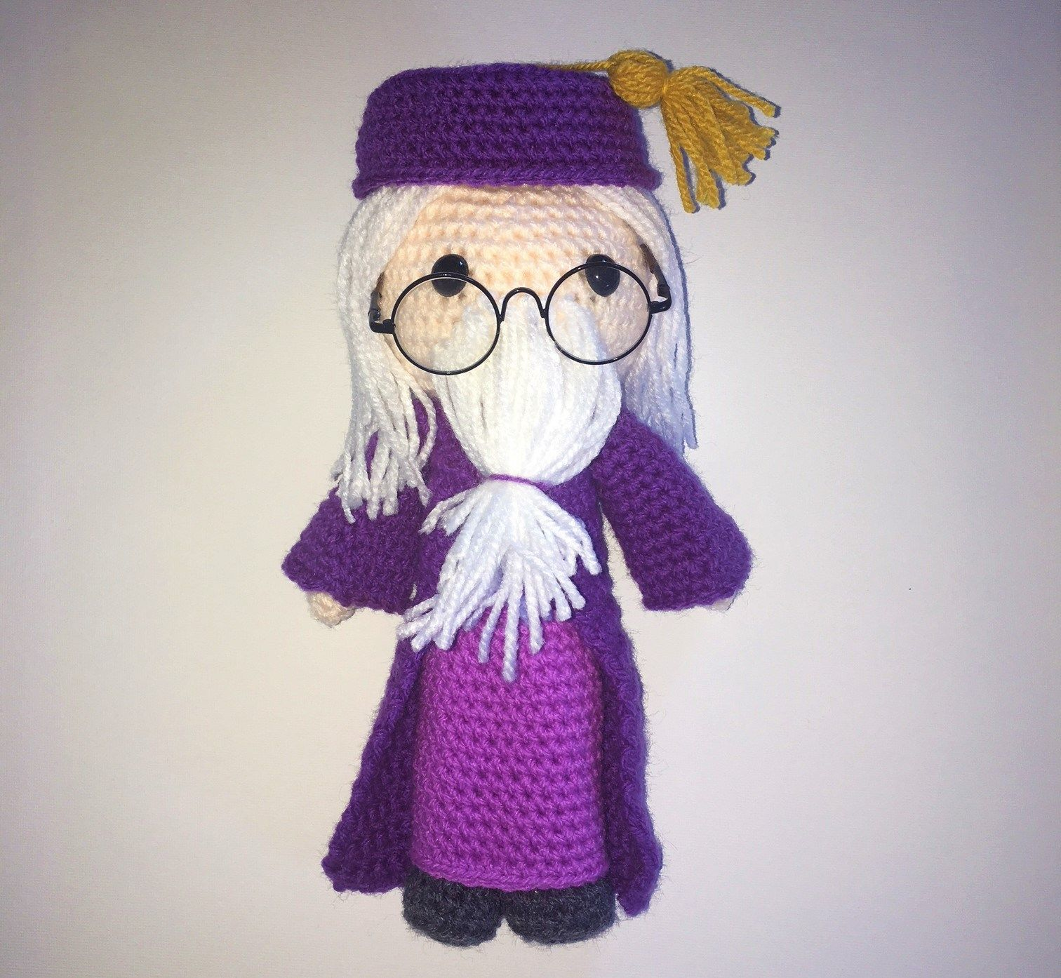 Dumbledore inspired 32 cms soft toy Harry Potter Wizard doll KNITTING PATTERN