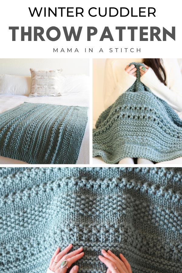 Winter Cuddler Throw Blanket Knitting Pattern