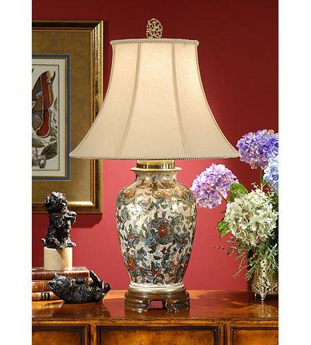 Wildwood 7698 Wildwood 31 Inch 100 Watt Hand Painted Table Lamp Portable Light Lamp Gold Table Lamp Elegant Table Lamp