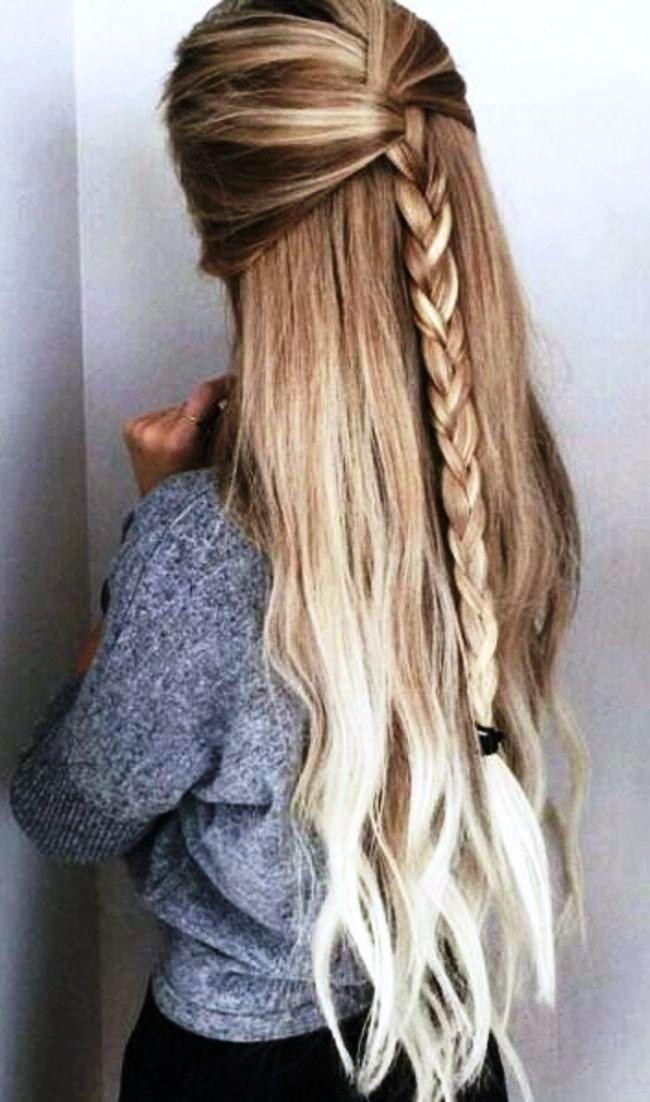 Comment faire de belles coiffures simples pour les cheveux longs, étape par étape à la maison...