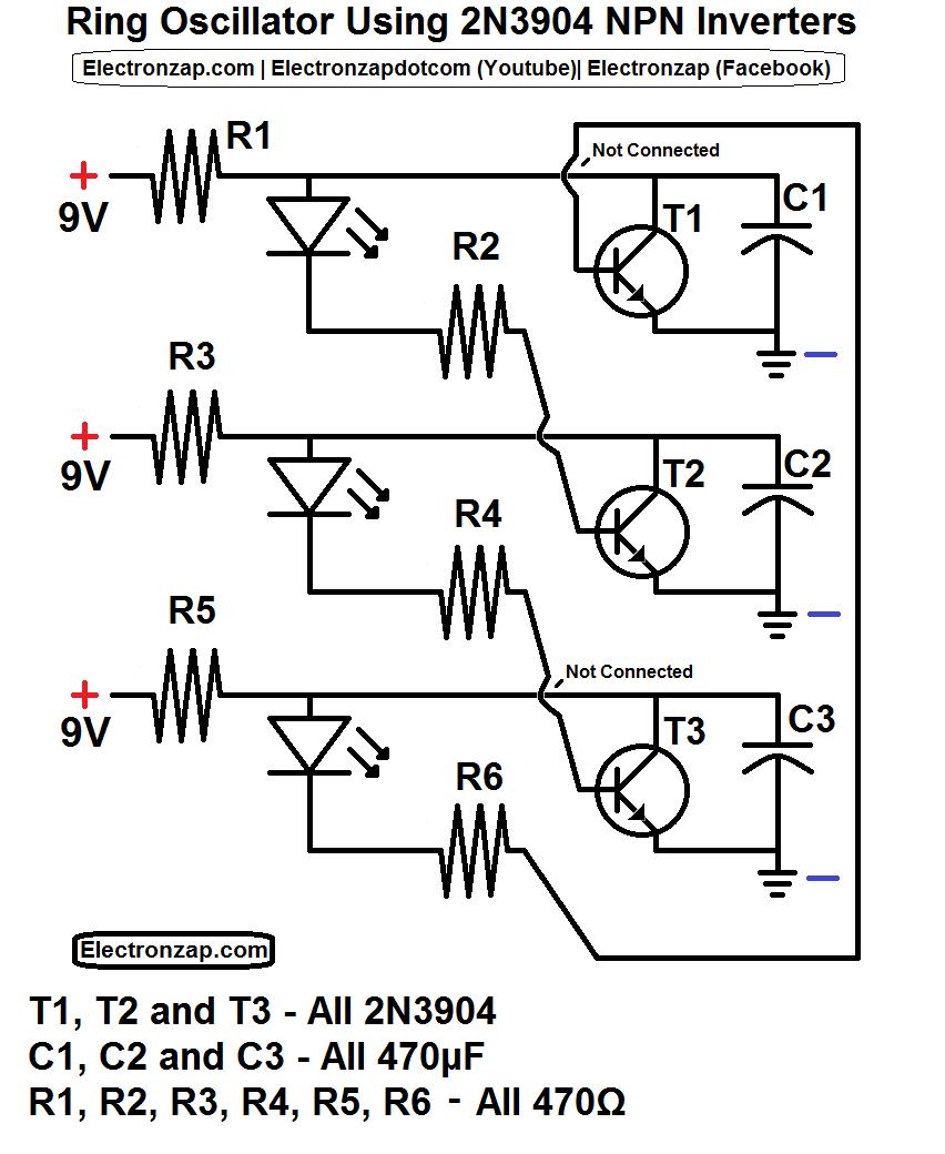 medium resolution of ring oscillator schematic using 3 2n3904 npn transistor inverter circuits