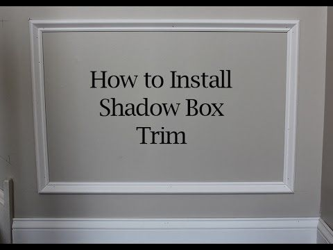 A Simple Wainscoting Diy Project How To Build And Install Picture Frame Molding On Walls Picture Frame Molding Diy Shadow Box Diy Wainscoting