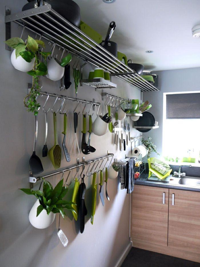 einrichtungsideen kleine küche ideen geschirr wand Germany - küche spritzschutz wand