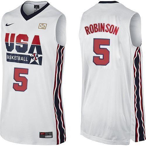 size 40 2eeea e5ac6 David Robinson Dream Team Home Jersey | Products | Usa dream ...
