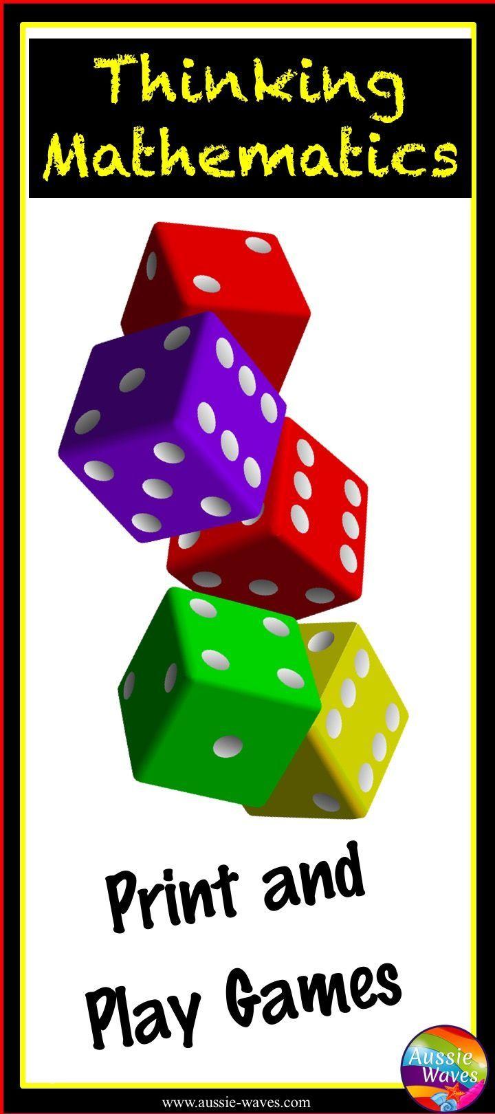 Printable Math Games for Elementary Math Centers | Fun math games ...