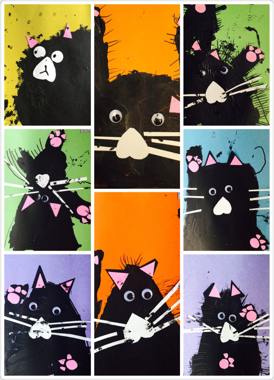 Art to go with the Splat the Cat books. Adorable. | Art lessons ...