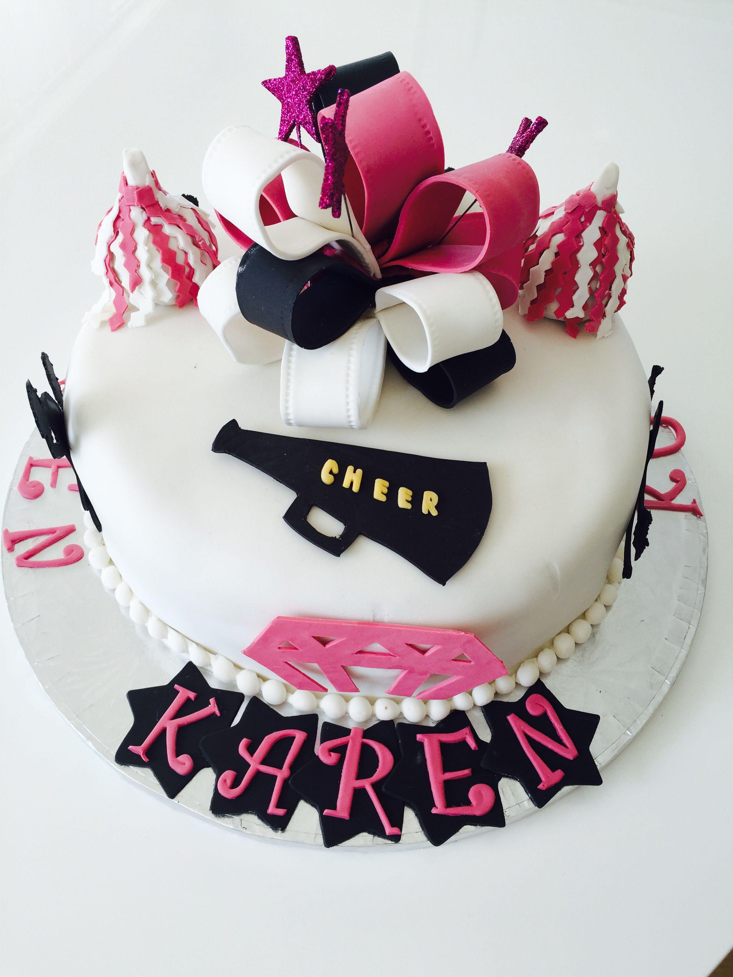 Make A Cheerleader Cake Topper