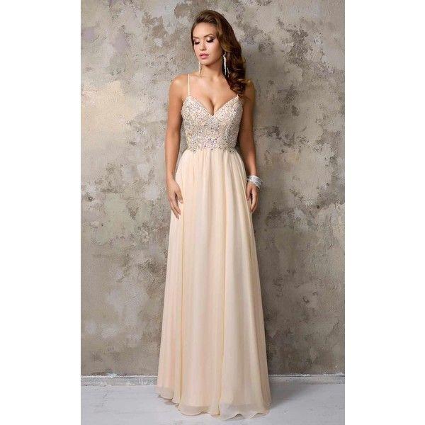 Nina Canacci 1236 Prom Long Dress Long Sleeveless ($338) ❤ liked on ...