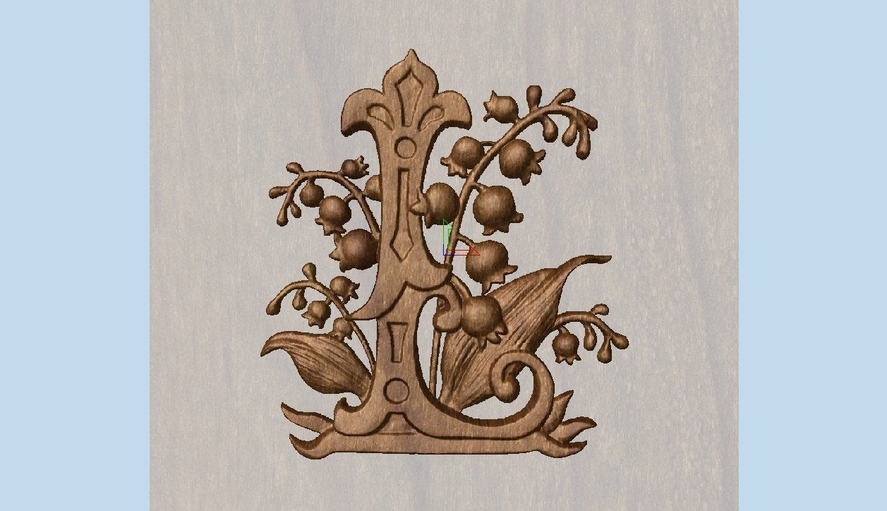 Wooden letterswall letters woodletter l lupinewood carving