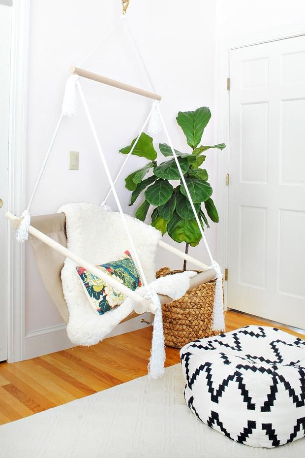 Easy Tutorial For Making A Hanging Sling Chair