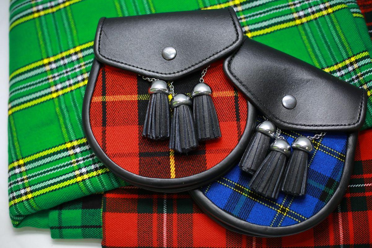 Matching Tartan Sporran In 2020 Tartan Scottish Kilts Kilt Shop