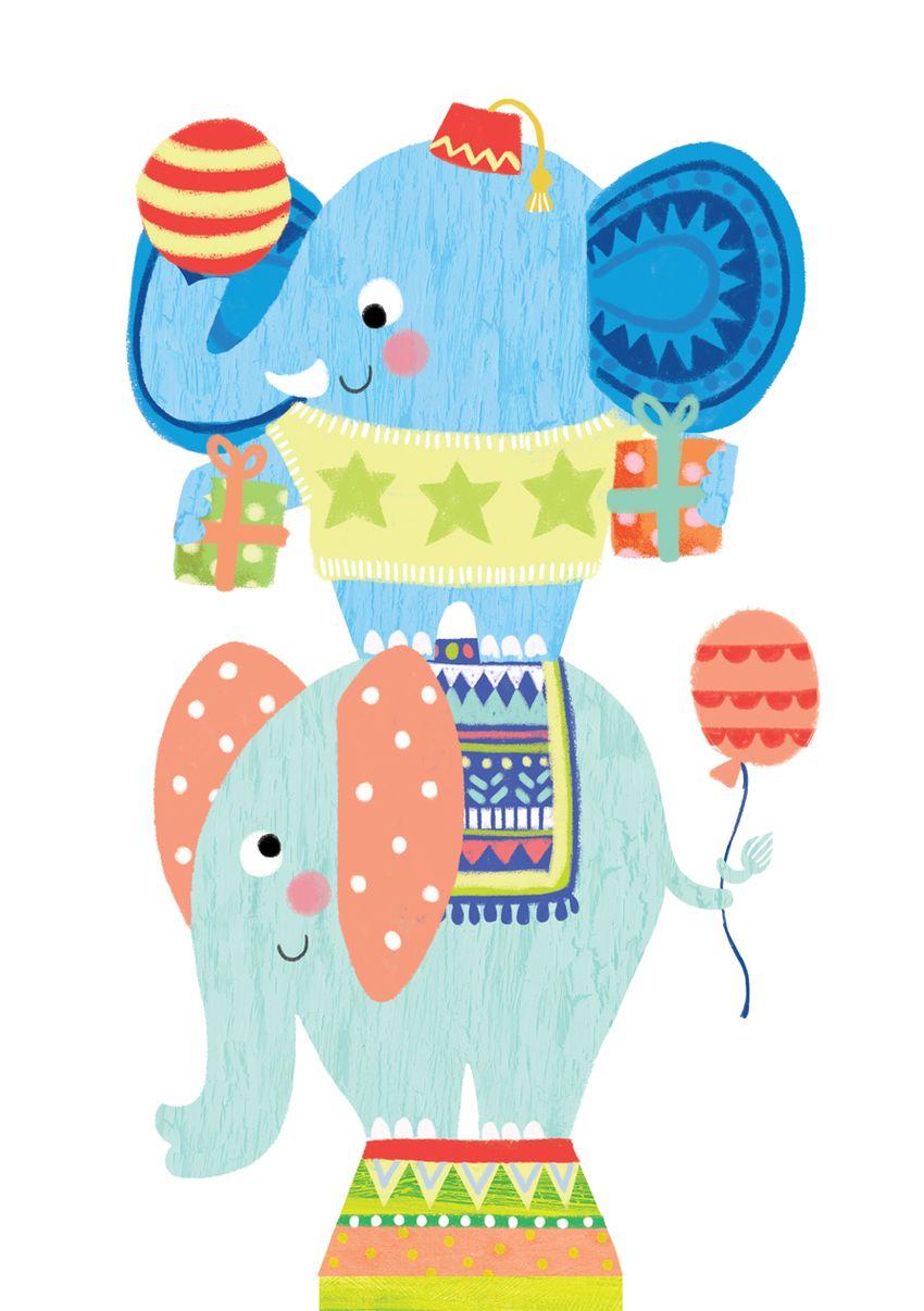 Louise Anglicas Happy Birthday Elehants Jpg Birthday Cards Kids Birthday Cards Elephant Birthday
