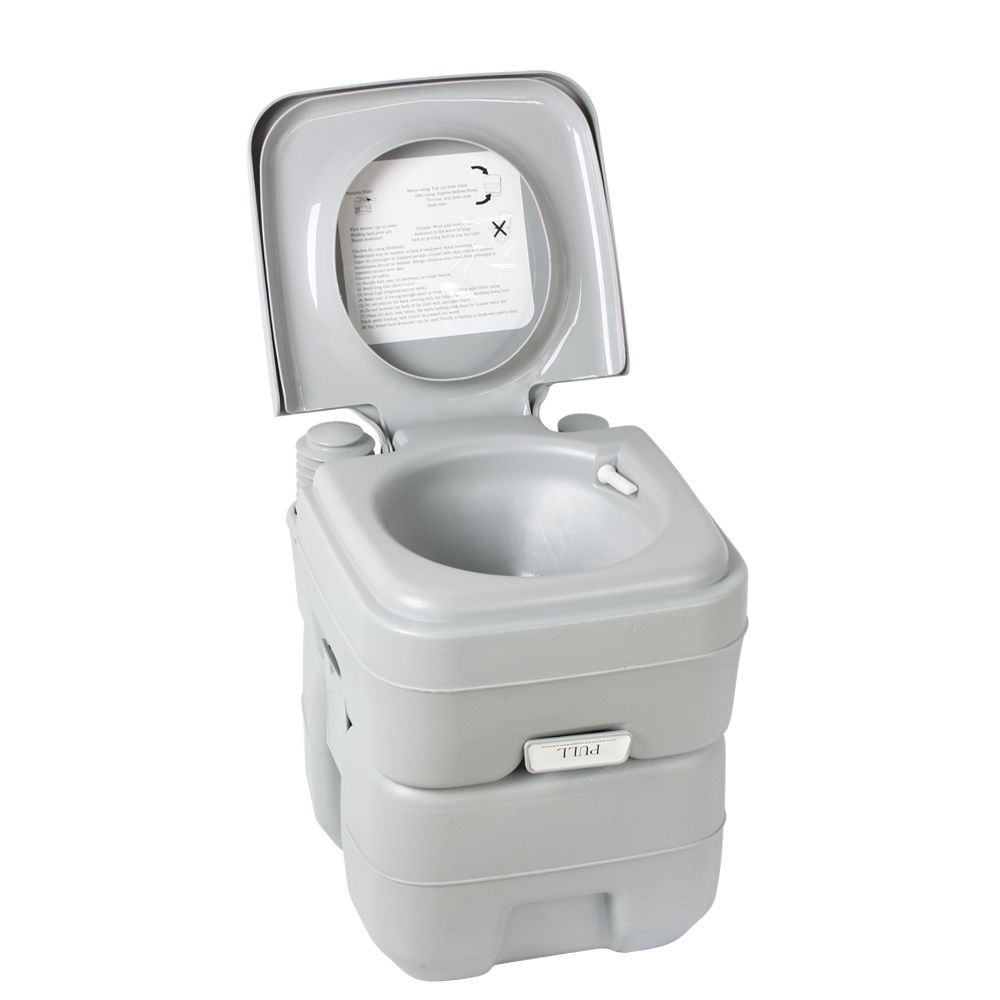 5 Gallon Portable Toilet Flush Travel Camping Outdoor Indoor Potty Commode 20l 814870021955 Ebay Camping Toilet Portable Toilet For Camping Portable Toilet