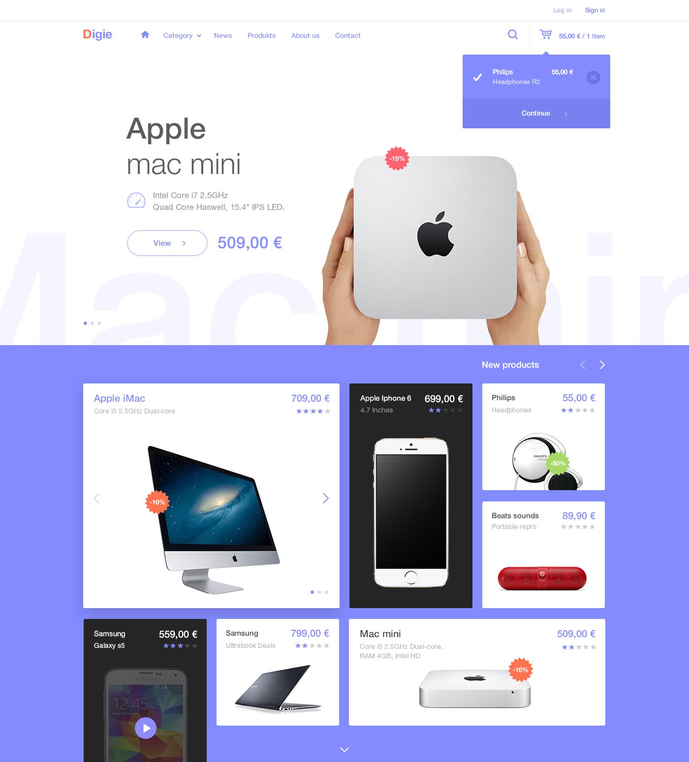Dribbble Attach Digie Png By Andrej Krajcir Web Layout Design Ecommerce Web Design Web Design