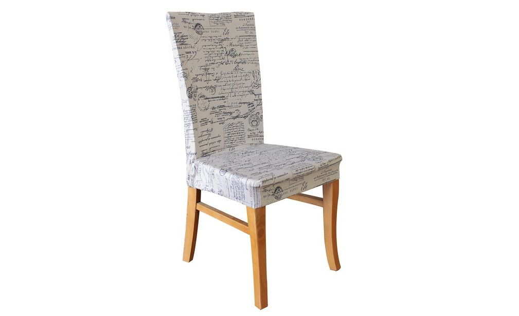 dining chair signature natural print cover by sure fit dinning