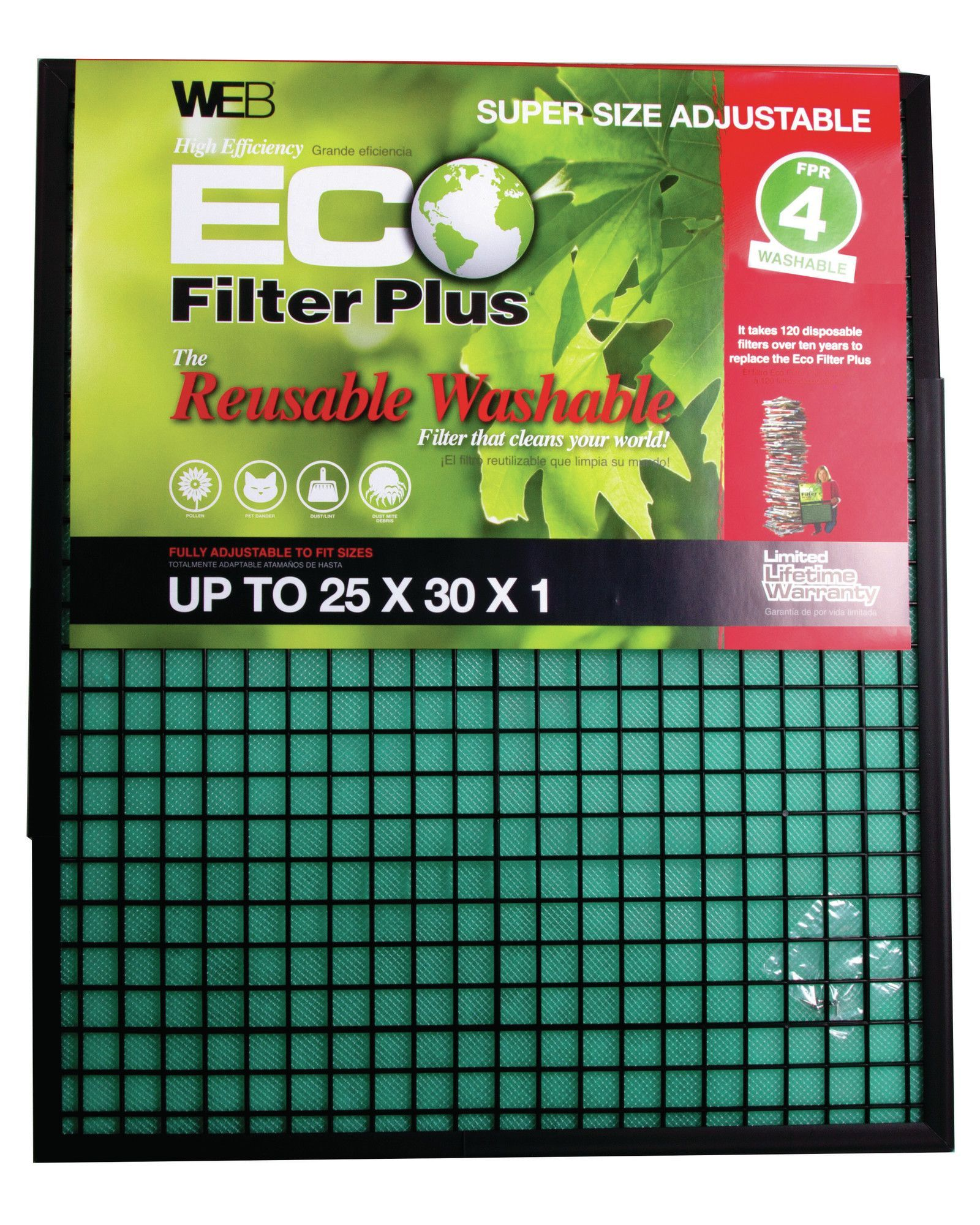 Eco Plus Permanent Electrostatic Adjustable Air Filter in