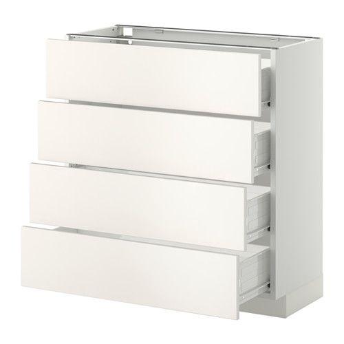 metod f rvara unterschr 4 fronten 4 schubladen wei veddinge wei 80x37 cm ikea. Black Bedroom Furniture Sets. Home Design Ideas