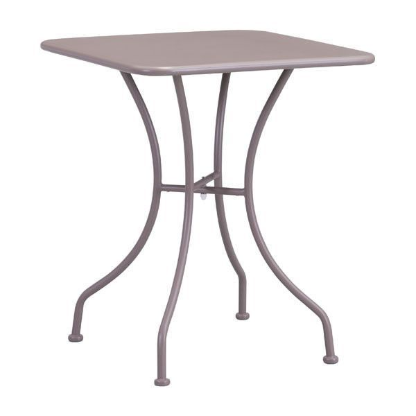 Oz Dining Square Table Taupe Electro & Powder Coated Metal | Modern ...