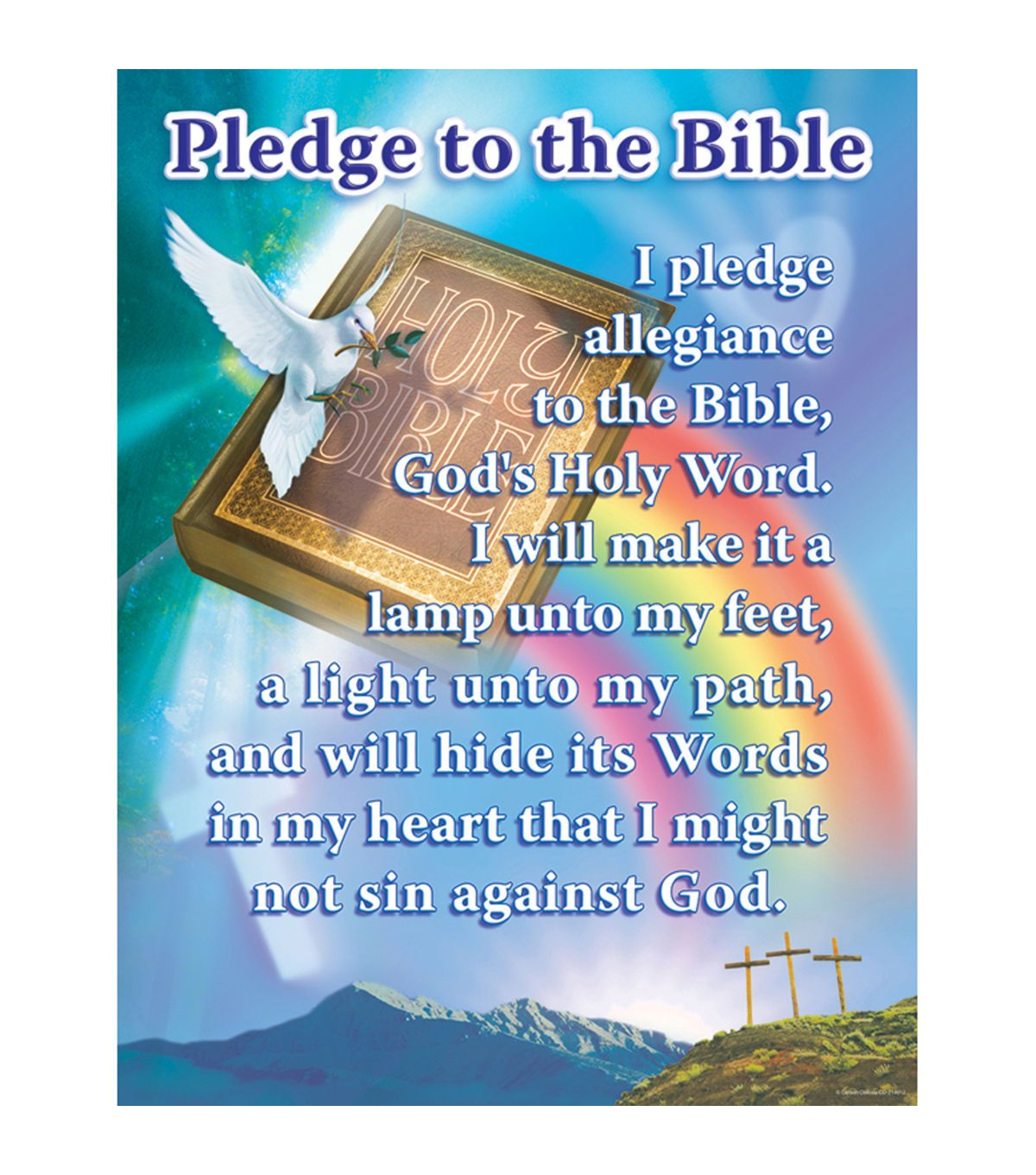 Carson Dellosa Pledge To The Bible Chart 6pk