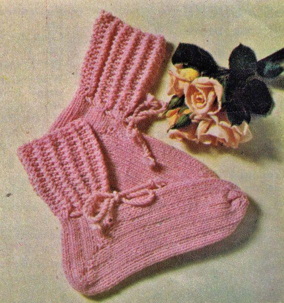 ViNTAGE 1970's ReTRO WINTeR BED SOCKS THReE by ...